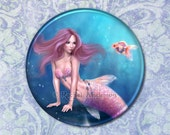 Aurelia Goldfish Mermaid Pocket Mirror