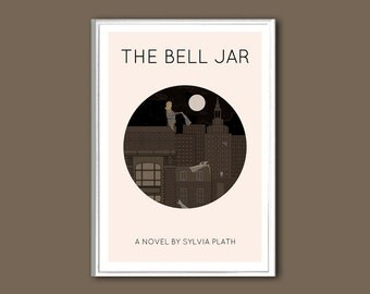 The Bell Jar book poster retro print in various sizes