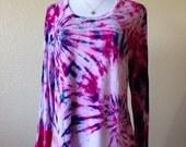 Tie-Dye Women's Warm Essentials by Cuddl Duds Long Sleeve Size XXL Pink Spiral