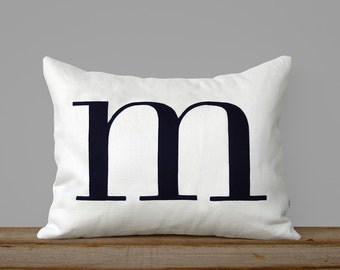 Custom Monogram Pillow | 14x18 | Personalized Typography Pillow Cover by JillianReneDecor | Personalized Gift | Valentine's Day Gift