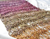 Marrakech Hand Knitted Silk Wool Mix Drop Stitch Wraparound Shawl