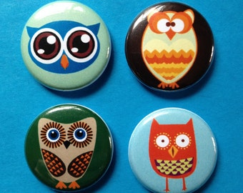 Owl MAGNETS Set of Four