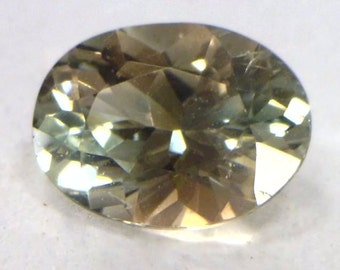 Blue Peach Oregon Sunstone Precision Meet Point Faceted 6.3 x 4.7mm Oval .51 ct