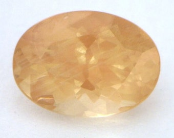 Copper Orange Oregon Sunstone Precision Meet Point Faceted 10.9x8mm Oval 2.93 ct