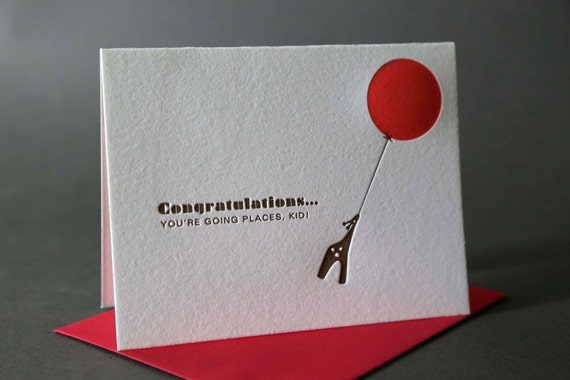 Red Balloon Congratulations Kid