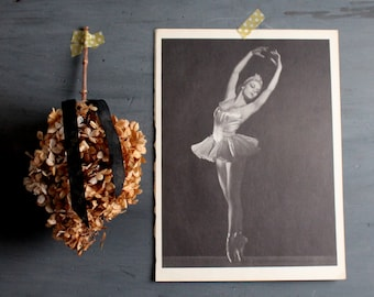 Vintage Ballerina Print -  Book Plate - Vintage Ballet Print -  Dance Photograph -  Ballet -  Portrait of Vera Zorina