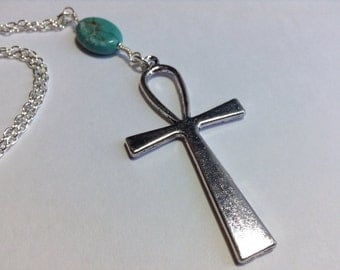 Ankh Necklace and Turqouise Necklace