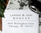 Address Stamp, Custom Address Stamp, Return Address Stamp, Personalized Gift, Wedding Gift, Custom Address, Self Inking Stamp - 1023