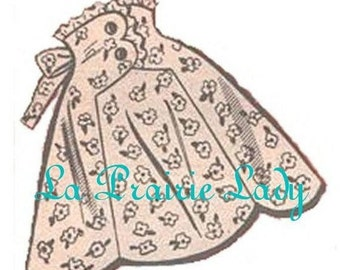 Repro Vintage Apron 50's One Yard Fabric PDF Pattern no1 Available in M-L-XL