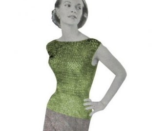 Vintage Crochet Pattern  Cocktail Top 50's