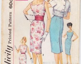 Vintage Pattern Simplicity 3464 Dress and Jacket 60s Size 14 B34