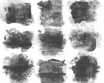Photoshop Brushes - Amalgamation 1 - Art Journaling & Mixed Media Brushes and Masks