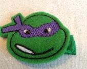 Boutique Embroidered  Felt Turtle Hair Clippie   (Item15-154)
