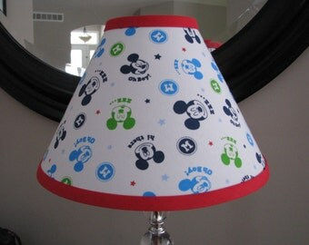 Lamp shade in Mickey Mouse