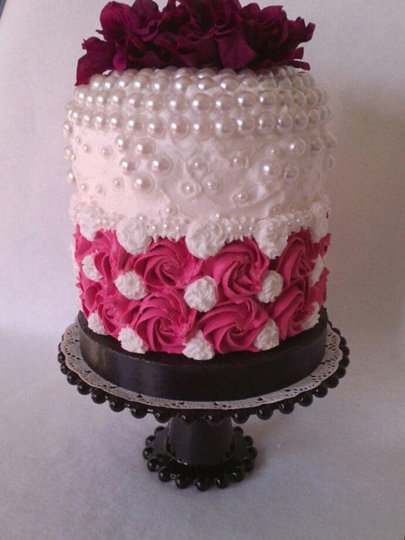 fake wedding cakes for display artificial cake cake display cake by caramiacakes on etsy 14129