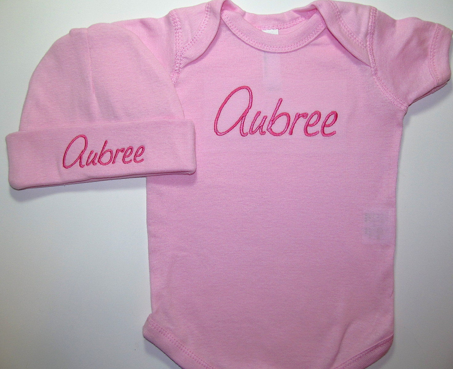 Personalized Baby Girls Clothing Bodysuit Hat Newborn