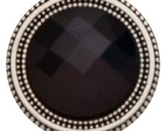 EXTRA LARGE Magnet Button Set Black Crystal For Sweaters & Scarves