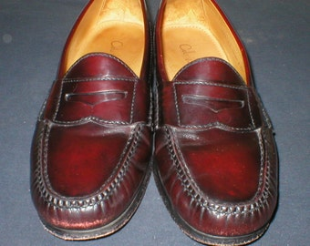 Vintage Cole Haan Mens Shoes Leather Penny Loafers Size 9D