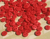 """Little Red Buttons - Bulk Buttons - Small Sewing Button - 3/8"""" Wide"""