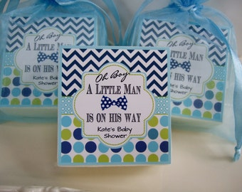 Baby Shower Soap Favors, Little Man, set of 10