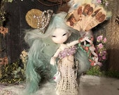 For Fidelia Fidelina Fuuga Isilmë CCC Firefly Faerie Antique Flowers Silks and Feather Fan