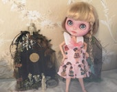 For Filia Moon Blythe 30cm Paper Doll  Dress Bloomers Purse Set
