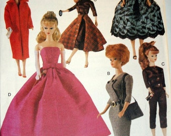 """11 1/2"""" Fashion Doll Sewing Pattern Retro 1940s Clothes Vogue 7108 Shipping to US INCLUDED"""