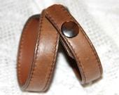 Brown leather twist bracelet
