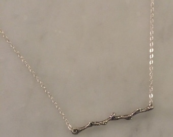Branch Bar Necklace Sterling Silver