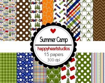 Digital Scrapbook SummerCamp-INSTANT DOWNLOAD