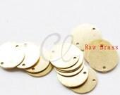 40pcs Raw Brass Flat Disc Link - 12mm (2035C-F-531)