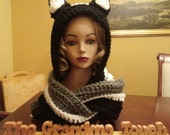 made to order adult hooded cat scarf