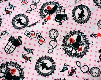 Alice in Wonderland Fabric Half meter N132