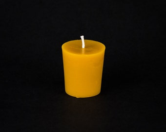 Pure Beeswax Votive Candle - Medium - 24