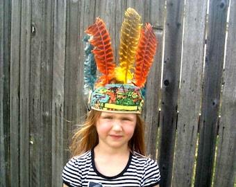 Vintage Childs Indian Head Dress