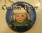 Custom  Portrait Christmas Ornaments (2)