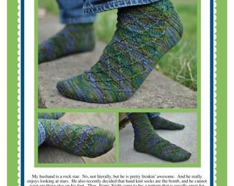 Starry Night Socks Pattern PDF