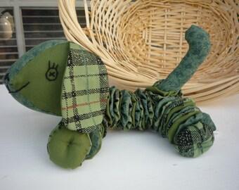 Yo Yo Puppy dog fabric quilt nursery toy decor k9 yoyo