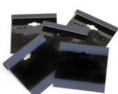 """Black Flocked Earring Jewelry Display Hanging Cards 2"""" x 2"""" - Set of 5 - Liquidation Sale"""