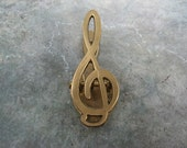 Vintage Brass Musical Note - Paper or Letter Clamp