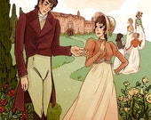 Pride and Prejudice 12x18 lit poster