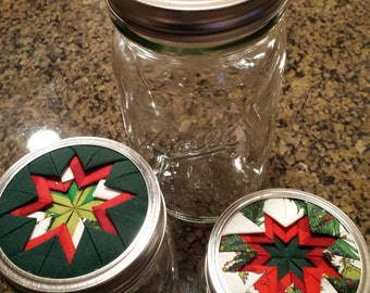 Set/3 of Mason Jars Home Decor, Christmas, Dr. Seuss Theme, Beautifully Designed Lids, Decorative, Functional, Home or Office Use