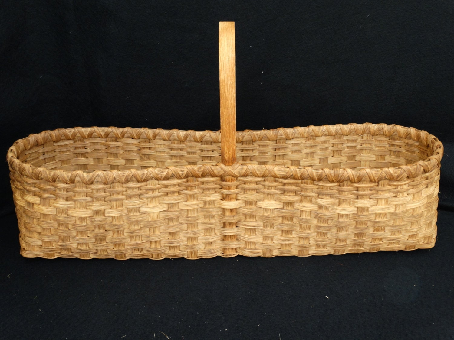 How To Hand Weave A Basket : Hand woven basket in traditional market style storage