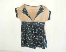 Vintage Feed / Flour Sack Clothespin Bag Dress Wall Hanging