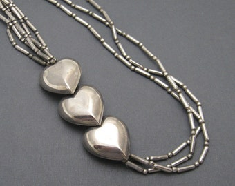 Vintage Heart Necklace Jewelry N6317