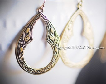 NEW - NAEVIA Earrings - Gold Filled Ear Wire - Made in USA Findings - Large - Free Domestic Shipping
