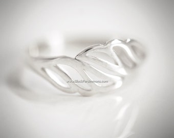 Wing Adjustable Ring - Solid 925 Sterling Silver - Insurance Included