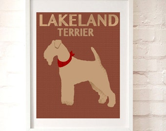 Lakeland Terrier Dog Art - Wall art, Silhouette, Dog art , Lakeland Terrier, dog lovers