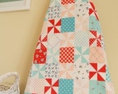 Ironing Board Cover - Country Patchwork in Aqua and Pink - Riley Blake