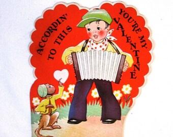 Two vintage Valentines - 1950s - Retro mid century